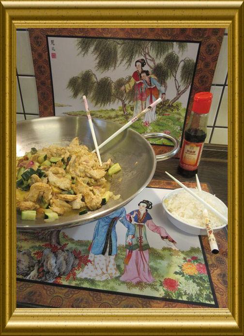 Hähnchen mit Zucchini aus dem Wok aus der Taraland Lehrküche