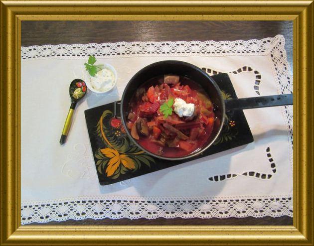 Russische Borschtsch aus der Taraland Lehrküche