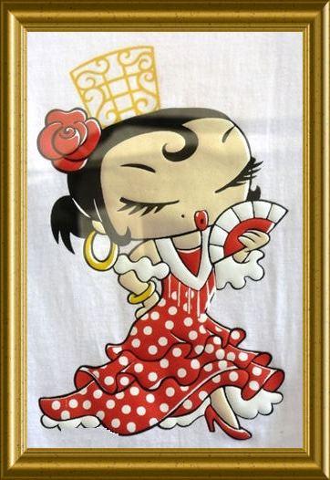 Spanische Dame aus der Taraland Lehrküche