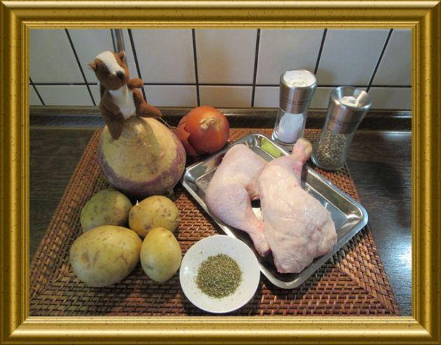 Wruggen mit Hähnchenfleisch aus der Taraland Lehrküche