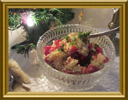 CousCous Salat mit Apfeltee Dressing aus der Taraland Lehrküche