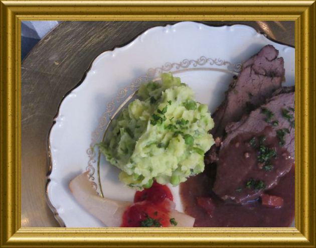 Kartoffel-Erbsen-Minz-Püree aus der Taraland Lehrküche