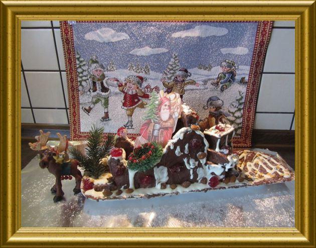 Nostalgieschlitten aus Lebkuchen aus der Taraland Lehrküche