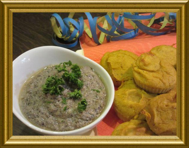 Pilz Dip zu Kürbisküchlein aus der Taraland Lehrküche