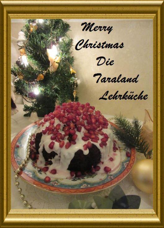 Traditioneller Christmas Pudding mit Brandysauce aus der Taraland Lehrküche