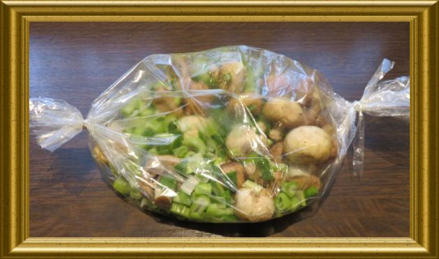 Hähnchen auf dem Gemüsebeet aus dem Bratenschlauch aus der Taraland Lehrküche