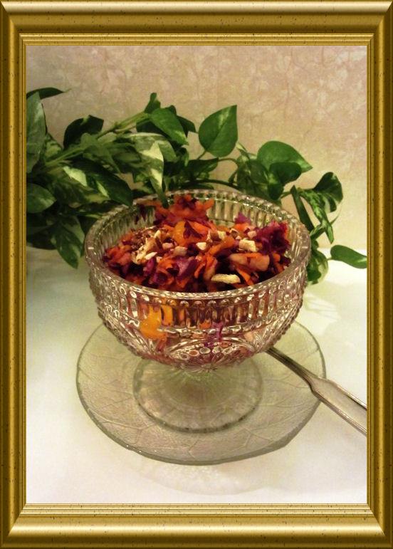 Rotkohl-Möhren-Salat aus der Taraland Lehrküche