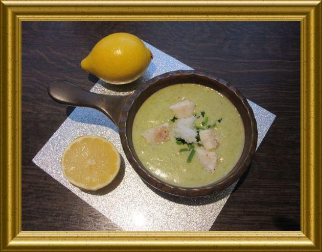 Kartoffel-Lauch-Suppe mit Kabeljau aus der Taraland Lehrküche