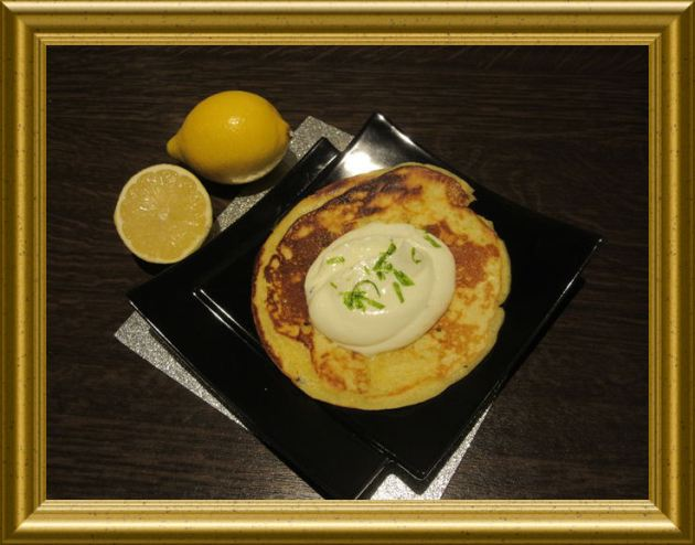 Mini-Pfannkuchen mit Zitronencréme aus der Taraland Lehrküche