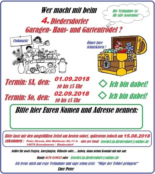 4Diedersdorfer Garagen- Haus- Carport-Gartentrödel